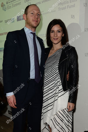 Stock Image of Jewish Film Festival Opening Night at the Bfi Southbank Sarah Solemani with Her Husband Daniel Ingram