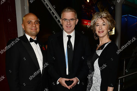Jewish Film Festival Opening Night at the Bfi Southbank Sajid Javid Mp (secretary of State For Culture Media and Sport) with Daniel Taub Ambassador of Israel and Maureen Lipman