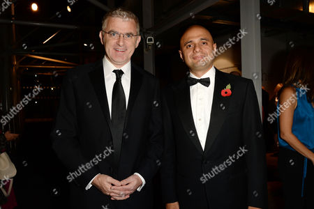 Jewish Film Festival Opening Night at the Bfi Southbank Daniel Taub Ambassador of Israel and Sajid Javid Mp (secretary of State For Culture Media and Sport)