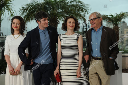 Jimmy's Hall Photocall at the Palais Des Festivals During the 67th Cannes Film Festival Aisling Franciosi Barry Ward Simone Kirby and Ken Loach