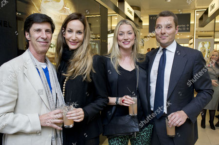Launch of the New John Lewis Beauty Hall On Oxford Street Lisa Butcher with Her Partner Michael Jacobson and Heidi Wichlinski with Her Husband Seb Bishop