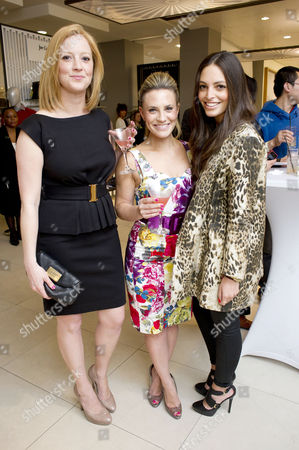 Stock Picture of Launch of the New John Lewis Beauty Hall On Oxford Street Georgie Thompson and Olivia Godfrey
