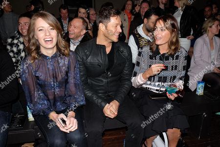 London Fashion Week Ss16 - Julien Macdonald Front Row Federica Amati Paul Sculfor and Yasmin Le Bon