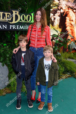 Jungle Book European Premiere at the Bfi Imax Waterloo Sara Macdonald with Her Sons Sonny and Donovan Gallagher