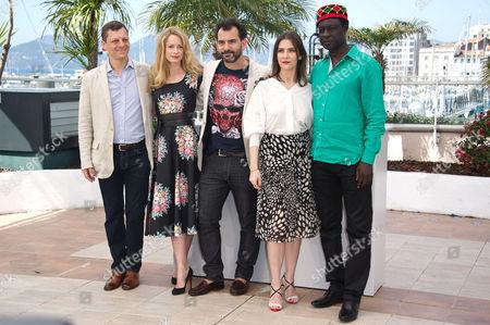 Stock Photo of Jury of Un Certain Regard Photocall at the Palais Des Festivals During the 67th Cannes Film Festival Peter Becker Maria Bonnevie Pablo Trapero Geraldine Pailhas Moussa Toure