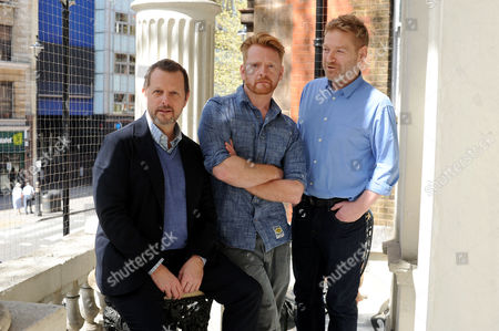 Kenneth Branagh Photographed at the Garrick Theatre with Director Rob Ashford and Designer Chris Oram Ahead of the Announcement of His New Residency at the Garrick Theatre