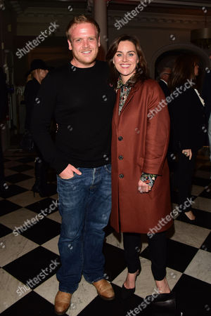 Kinky Boots Press Night Afterparty at the Connaught Rooms Owain Arthur and Jill Halfpenny