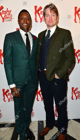 Kinky Boots Press Night Afterparty at the Connaught Rooms Matt Henry and Killian Donnelly