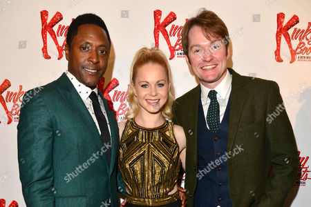 Kinky Boots Press Night Afterparty at the Connaught Rooms Matt Henry Amy Lennox and Killian Donnelly