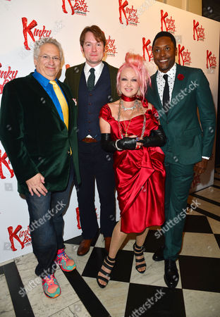 Kinky Boots Press Night Afterparty at the Connaught Rooms Harvey Fierstein Killian Donnelly Cyndi Lauper and Matt Henry