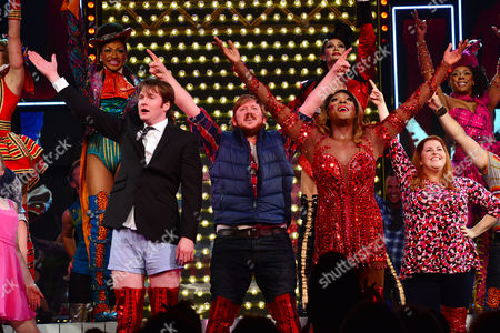 Kinky Boots Press Night Afterparty at the Connaught Rooms Curtain Call at the Adelphi Theatre the Strand - Killian Donnelly Jamie Baughan and Matt Henry