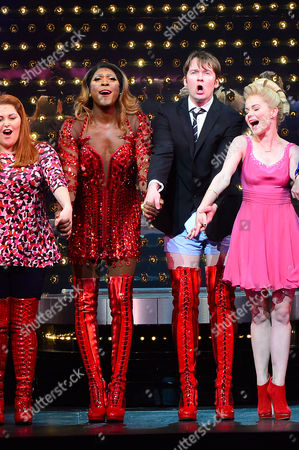 Kinky Boots Press Night Afterparty at the Connaught Rooms Curtain Call at the Adelphi Theatre the Strand - Killian Donnelly and Matt Henry