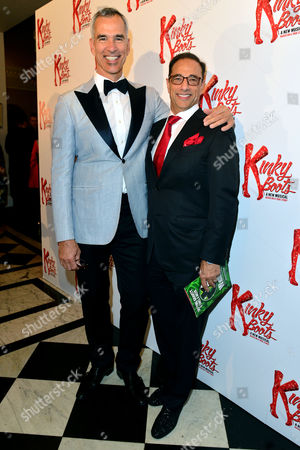 Kinky Boots Press Night Afterparty at the Connaught Rooms Director Jerry Mitchell with Hal Luftig