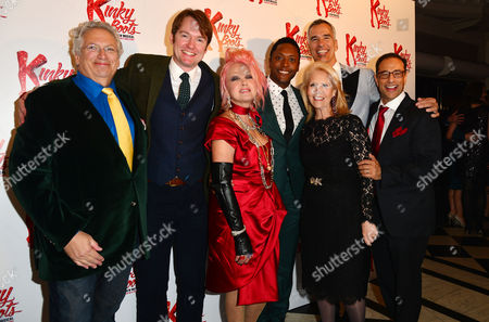 Kinky Boots Press Night Afterparty at the Connaught Rooms Harvey Fierstein Killian Donnelly Cyndi Lauper Matt Henry Director Jerry Mitchell and Hal Luftig