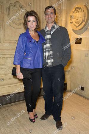 Kooza Cirque Du Soleil Press Night at the Royal Albert Hall Natasha Kaplinsky with Her Husband Justin Bower