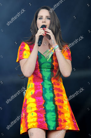 Glastonbury Festival 2014 - Saturday Lana Del Ray On the Pyramid Stage