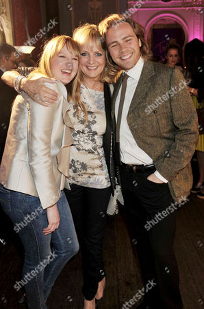 Launch Party For Twiggy's First Marks & Spencer Fashion Collection Twiggy with Her Son Jason Lawson (ace) and Daughter Carly Witney