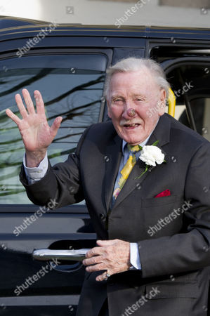 Leslie Phillips at His Wedding Blessing at St Mark's Church Maida Vale
