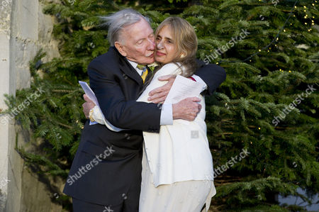 Editorial image of Leslie Phillips with His New Wife Zara Carr - 20 Dec 2013