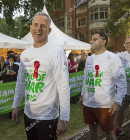 02 06 2015 Macmillan's House of Lords Vs House of Commons Tug of War Westminster College Gardens London the Lord's Team Lord Brian Paddick