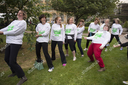 02 06 2015 Macmillan's House of Lords Vs House of Commons Tug of War Westminster College Gardens London the Ladies Mp's Team Antoinette Sandback Mp Clare Perry Mp Angela Rayner Mp Anne-marie Trevelyan Mp Kelly Tolhurst Mp Alison Mcgovern Mp Sophie Carter Emily Knight & Therese Coffey Mp