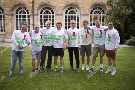 02 06 2015 Macmillan's House of Lords Vs House of Commons Tug of War Westminster College Gardens London the Mp's Team James Heappey Mp Kris Hopkins Mp Graham Evans Mp David Burrows Mp Chris Law Mp Angus Macneil Mp Alec Shelbrooke Mp Mark Spencer Mp & Mike Penning Mp