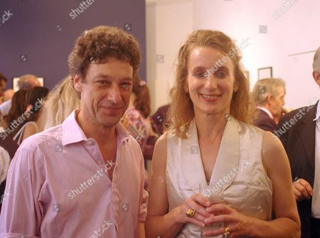 Maserati Private View at the Michael Hoppen Gallery Jubilee Place London Emma Sargent with Her Husband Count Adam Zamoyski