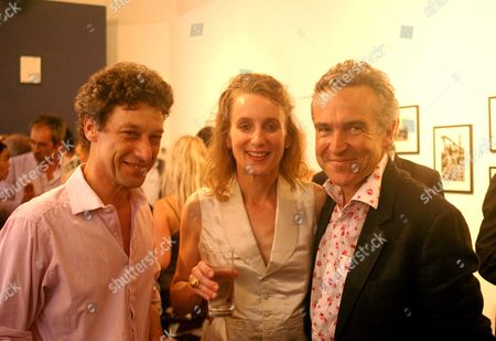 Maserati Private View at the Michael Hoppen Gallery Jubilee Place London Emma Sargent with Her Husband Count Adam Zamoyski & Stephen Bailey the Photo Exhibition Curator