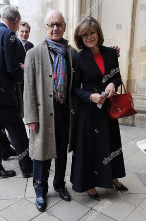 Lord Attenborough's Memorial Service at Westminster Abbey John Standing with His Wife Sarah