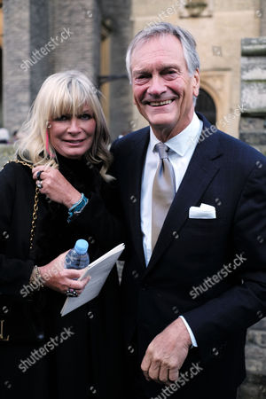 Memorial Service For Sir Joselyn Stevens at St Pauls Church Wilton Place Knightsbridge London His Daughter Pandora Delevingne with Her Husbandd Charles