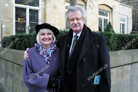 Stock Picture of Memorial Service For Sir Joselyn Stevens at St Pauls Church Wilton Place Knightsbridge London Prof Sir Christopher Frayling with His Wife