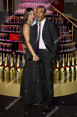 Moet British Independent Film Awards at Old Billingsgate Market Ashley Walters with His Girlfriend Natalie Williams