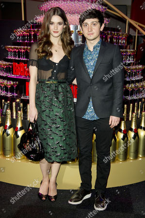 Stock Image of Moet British Independent Film Awards at Old Billingsgate Market Craig Roberts with His Girlfriend Lucinda Dryzek