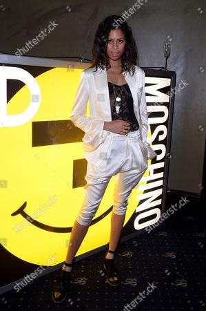 Moschino and I-d Magazine Party at Cafe De Paris Aluna Francis