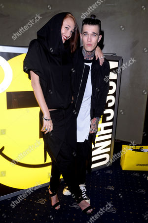 Moschino and I-d Magazine Party at Cafe De Paris Leia Contois and Jimmy Q