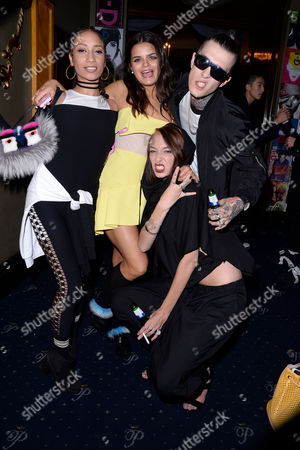 Moschino and I-d Magazine Party at Cafe De Paris Apple Bip Ling Leia Contois and Jimmy Q