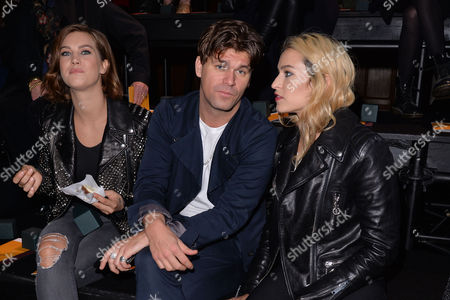 London Fashion Week - Mulberry Aw16 Fashion Show at Guildhall Front Row - Ellinor Olovsdotter (elliphant) Jack Penate and Alice Dellal