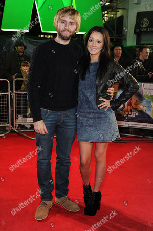 Muppets Most Wanted Premiere at the Curzon Mayfair James Buckley with His Wife Clair Meek