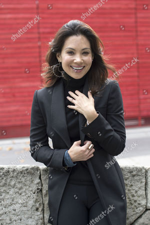 Natalie Mendoza Photographed at the National Theatre Southbank During Rehearsals For the New Musical 'Here Lies Love'
