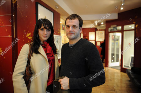 Stock Picture of Natasha Law 'Room' Exhibition Launch Eleven Gallery at the Other Space Charing Cross Road London Jonny Lee Miller with Michelle Hicks