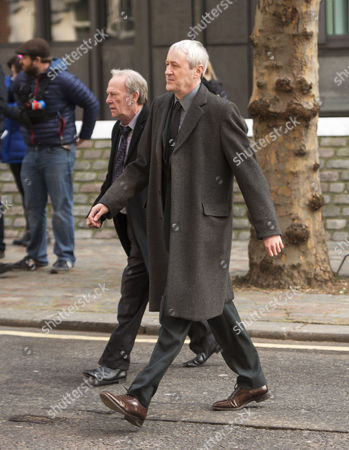 Nicholas Lyndhurst and Dennis Waterman Filming A Episode of New Tricks in Westminster This is A New Series and Nicholas Lyndhurst is A New Member of the Team