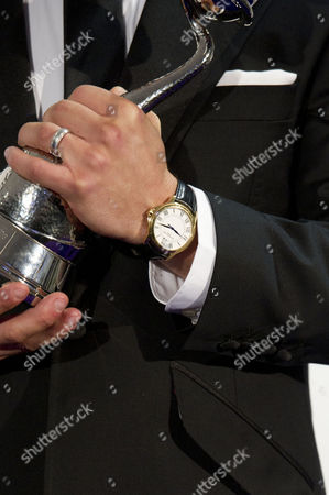 Stock Picture of National Television Awards - Press Room at the 02 Alan Halsall Wearing the Watch of William Tarmey - Winner of Best Serial Drama Performance