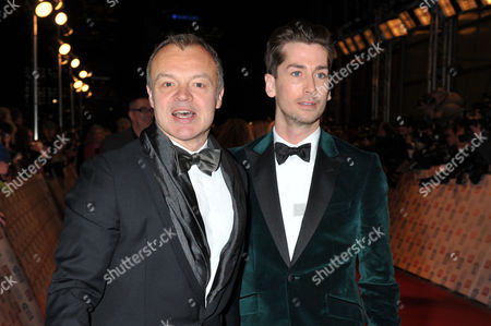 Stock Photo of National Television Awards - Red Carpet Arrivals at the 02 Graham Norton with His Partner Trevor Patterson