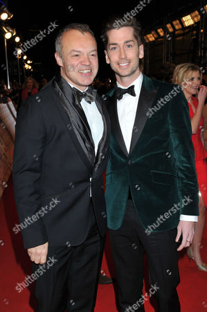 Stock Picture of National Television Awards - Red Carpet Arrivals at the 02 Graham Norton with His Partner Trevor Patterson