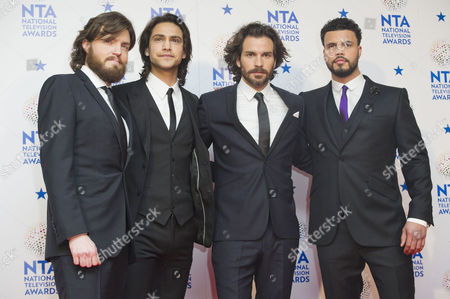 National Television Awards Press Room at the O2 the Four Musketeers - Tom Burke Luke Pasqualino Santiago Cabrera and Howard Charles