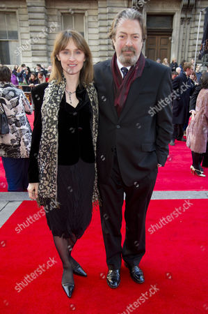 Olivier Awards 2012 Arrivals at the Royal Opera House Roger Allam with His Wife Rebecca Saire