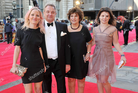 Stock Photo of Olivier Awards 2012 Arrivals at the Royal Opera House Lee Menzies (producer) with His Family