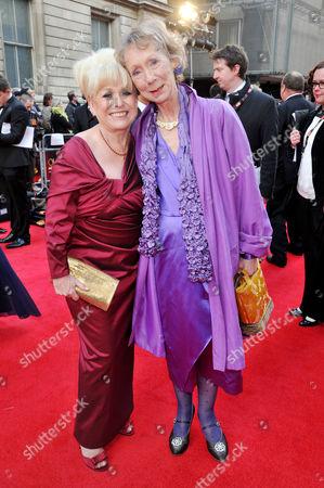 Olivier Awards 2012 Arrivals at the Royal Opera House Barbara Windsor and Marcia Warren