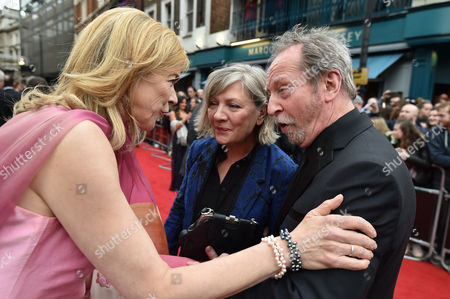Olivier Theatre Awards at the Royal Opera House - Special Access Red Carpet Pre-show Reception and Auditorium Bill Paterson with His Wife Hildegard Bechtler and Janie Dee