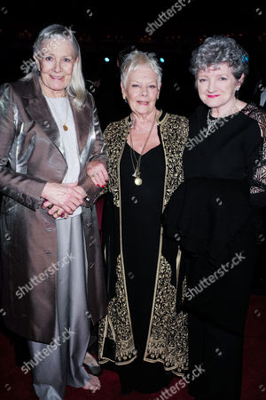 Olivier Theatre Awards at the Royal Opera House - Special Access Red Carpet Pre-show Reception and Auditorium Vanessa Redgrave Dame Judi Dench and Julia Mckenzie